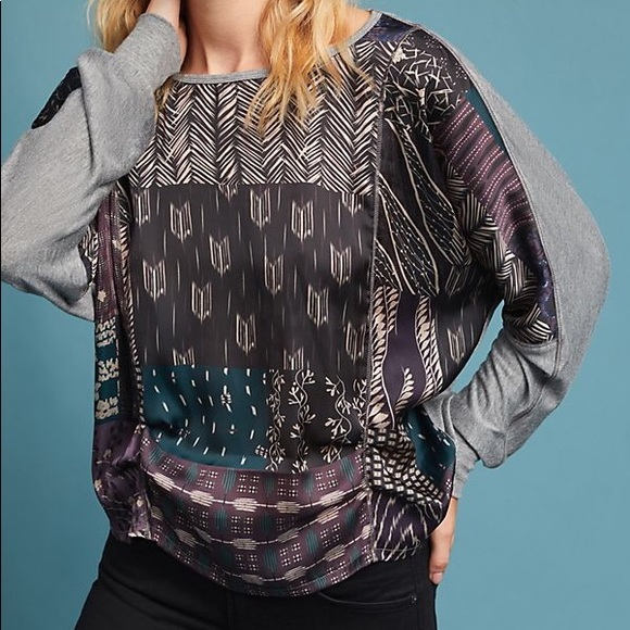 Anthropologie TINY Micah Silky Draped Top